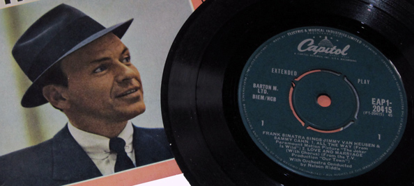 Frank Sinatra LP and cover