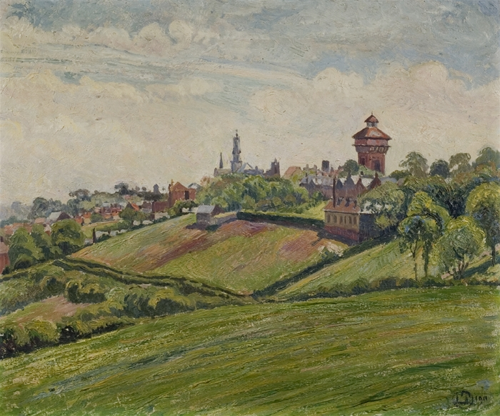View of Sheepen by Lucien Pissarro, Oil on canvas 1911