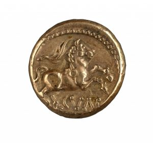 Gold coin featuring a horse