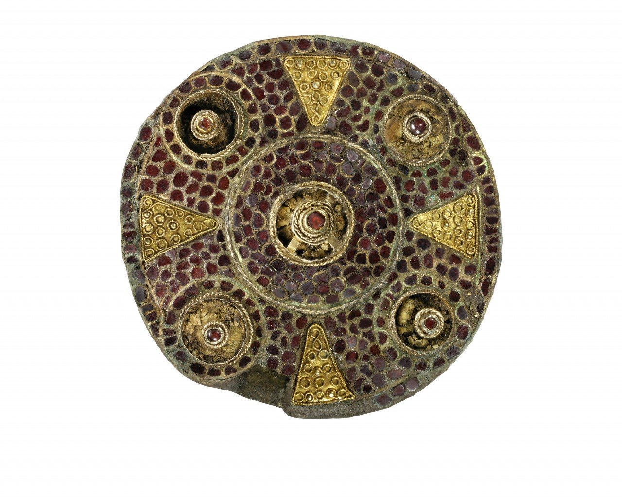 A collection of intricate Anglo-Saxon brooches
