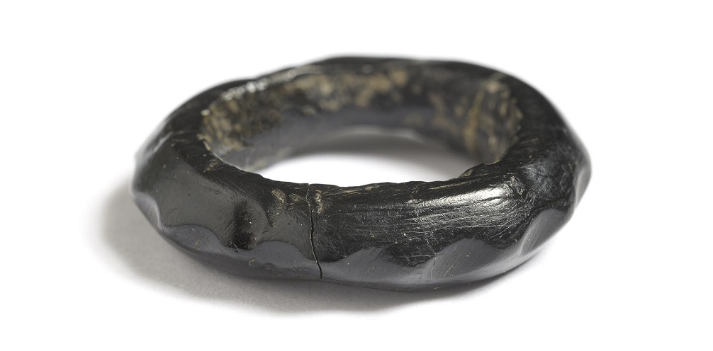 A black ring made from jet